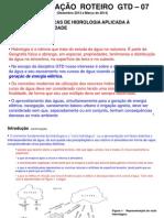 APRESENTAÇÃO ROTEIRO GTD - 07 - Noções Básicas de Hidrologia.ppt