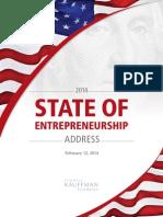 2014 State of Entrepreneurship Address
