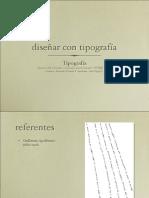 Diseñar con Tipografía