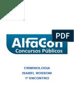 Alfacon Cedryc Escrivao de Policia Pc Sp Nocoes de Criminologia Isabel Rossoni 1o Enc 20140130214356
