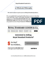 Royal Standard Wholesale / Reseller Information