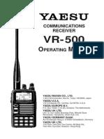 Yaesu VR-500 Operating Manual