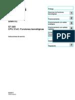 ENCODERS CONEXIONES s7300 Cpu 31xc Technological Functions Operating Instructions Es-ES Es-ES