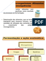 Interação microrganismos -Alimentos