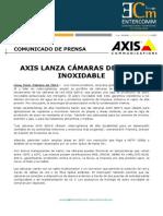 Axis lanza cámaras de acero inoxidable