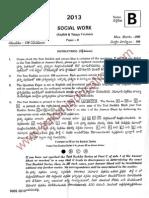 Social Work exam paper