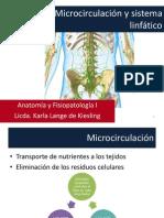 Microcirculación y sistema linfático 2013