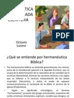 Hermeneutica en La Sagrada Escriturappt