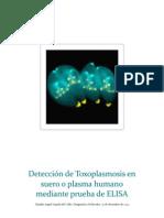Detección de Toxoplasmosis en suero o plasma humano mediante prueba de ELISA
