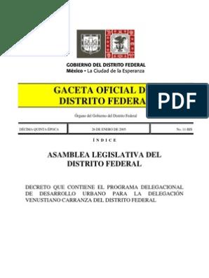 Pddu Venustiano Carranza 1 Ciudad De México México