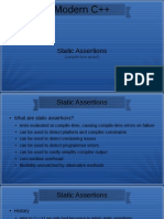 Modern C++ Static Assertions
