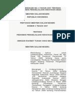 Permendagri No. 4 Tahun 2007