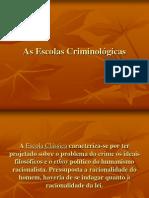 escolas criminolgicas - criminologia