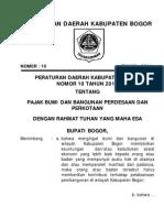 Perda Kab Bogor 2011 10 Pajak PBB Desa Kota