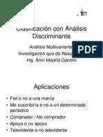 Clasificación con Análisis Discriminante