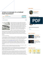 What to Evaluate in a Mutual Fund Factsheet_ - Investor Education