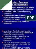 Ausubel's Expository Teaching Model