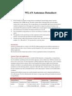 Huawei WLAN Antennas Datasheet (03-Dec-2012)