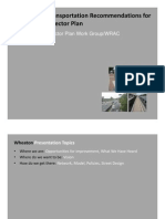 Preliminary Transportation Recommendations for  The Wheaton Sector Plan the Wheaton Sector Plan
