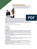 TECNICAS DE RECOLECCIÓN DE DATOS investigacion