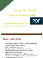 Curs de Lectii Marketingul Serviciilor 2011