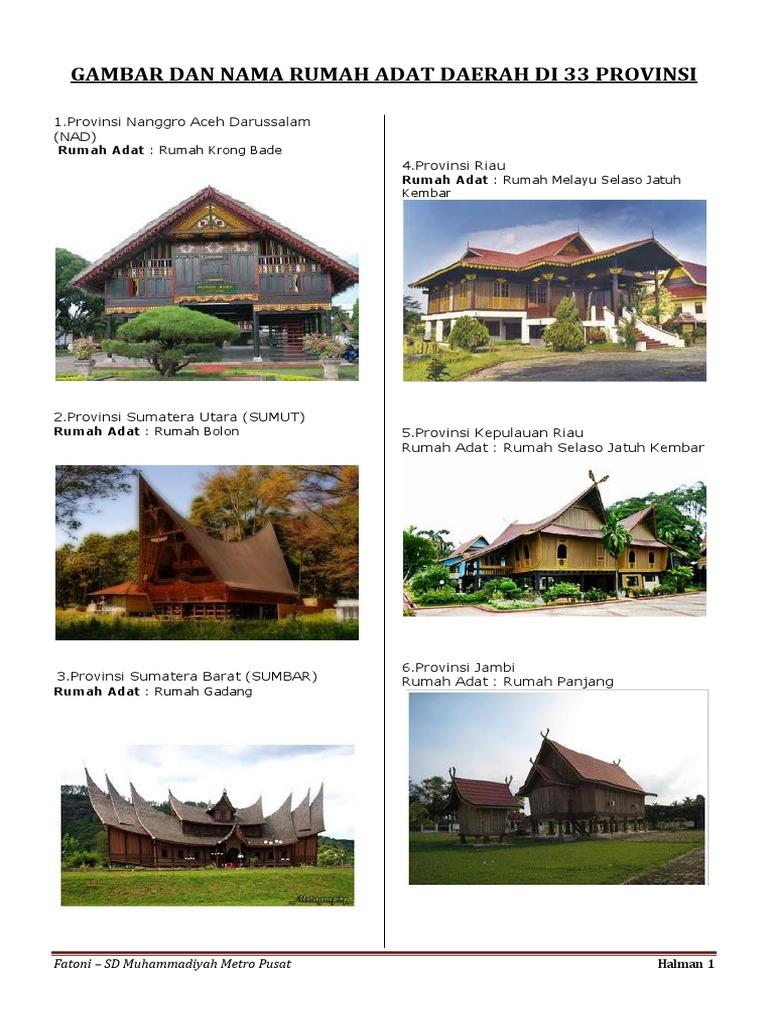 Gambar Rumah Adat Beserta Keterangannya Rumah Adat Di Indonesia