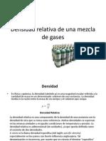 Densidad Relativa de Una Mezcla de Gases