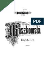 Moszkowski Op.63 3 Bagatelle
