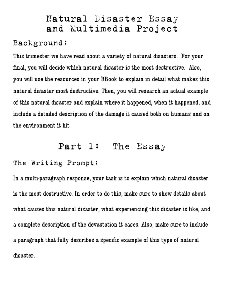 descriptive essays on natural disasters Grade 9 sample essays natural disasters like write a descriptive essay discussing the outer appearance and personality of an athlete that you look up.