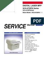Manual de Partes y Servicios MFP SCX-4725FN Series Parts & Service Xerox 3200