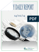 Daily Equity Report by Global Mount Money 14-02-2014
