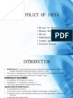 Exim Policy of India