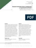 Disputas Territoriales Entre El Campesinado y La Agroindustria en Brasil