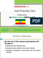 P -4- Women Friendly Care -2013