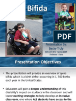 Spina Bifida Fact Sheet Presentation