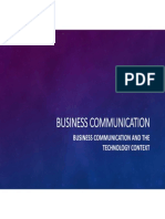 Business Communication &Technology Context