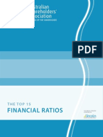 Top 15 Financial Ratios