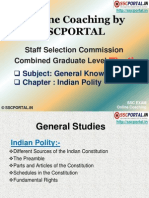 SSC Online Coaching CGL Tier 1 GK Indian Polity
