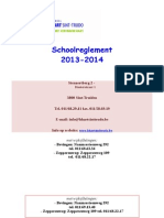 Schoolreglement 2013-2014