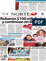 Periódico Norte edición impresa día 14 de febrero 2014