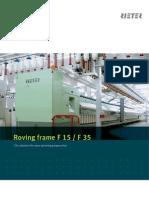 F 15 F 35 Roving Frame Brochure 1904-V2 en Original 16514
