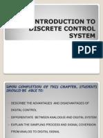 Discrete Control System(Intro)
