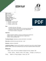 Lesson Plan Infomal Letter