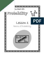 Pre-Calculus Math 40s - Probability - Lesson 1