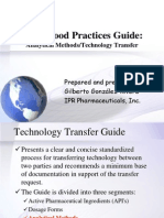 Analytical Method Technology Transfer is Pe Guide