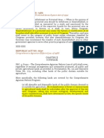 Statutory Provisions on RECLASSIFICATION