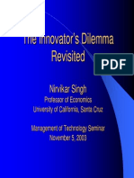 Innovators Dilemma-prof. n Singh-ppt