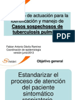 Protocolo de actuación para la identificación y manejo de Casos sospechosos de tuberculosis pulmonar
