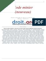 Code Minier (nouveau) - Version Consolidée du code au 27 Janvier 2014.pdf