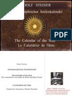 RUDOLF  STEINER - Anthroposophischer Seelenkalender - Calendar of the soul - Calendrier de l'âme - deutsch-englisch-französisch